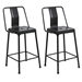 Elian Black Metal Industrial Counter Stool