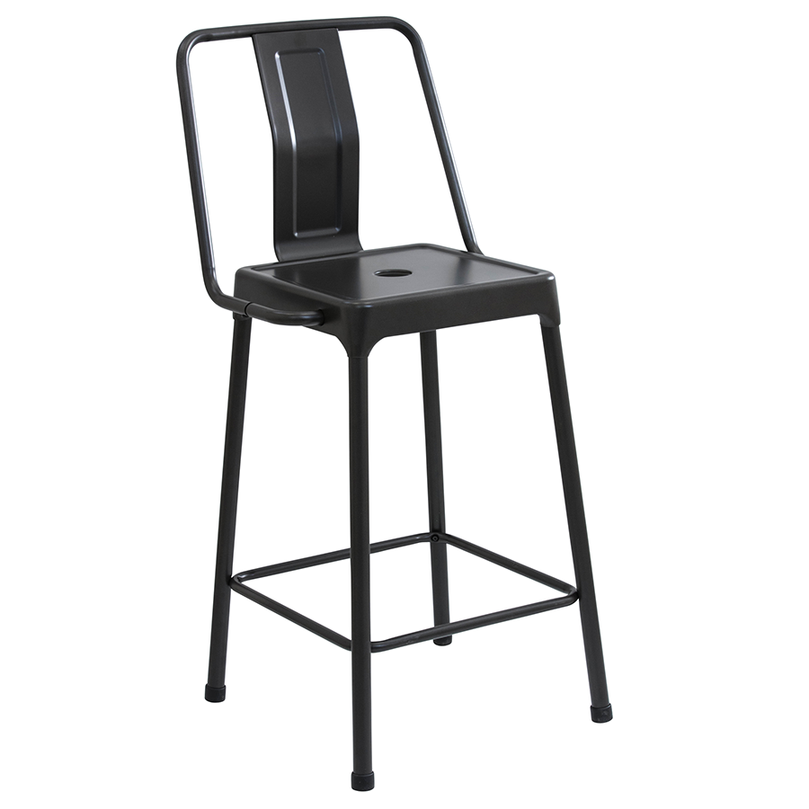 Modern Counter Stools Elian Black Stool Eurway