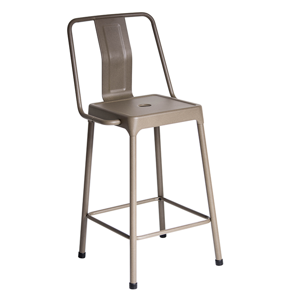 Elian Cappuccino Modern Counter Stool