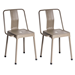 Elian Cappuccino Metal Modern Industrial Side Chair