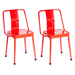 Elian Red Metal Contemporary Industrial Side Chair