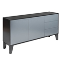 Elie Gray + Black Lacquer Modern Sideboard
