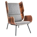 Elk Contemporary Lounge Chair in Andorra Pewter by Gus* Modern