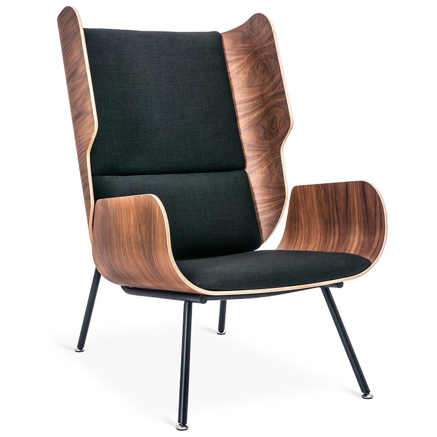 Elk Contemporary Lounge Chair in Laurentian Onyx by Gus* Modern