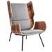 Elk Contemporary Lounge Chair in Varsity Charcoal