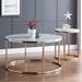 Elliott Modern Marble + Gold Coffee and End Table