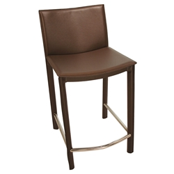 Ellis Modern Counter Stool in Brown