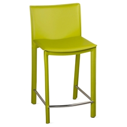 Ellis Modern Counter Stool in Green