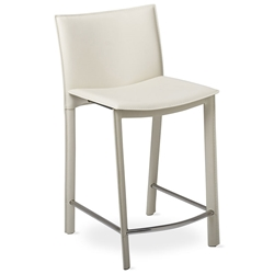 Ellis Modern Counter Stool in Ivory