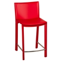 Ellis Modern Counter Stool in Red