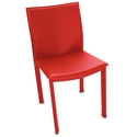 Ellis Modern Dining Chair in Red Bonded Leather