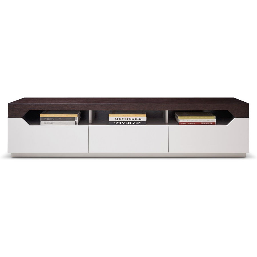 Ellison Modern Oak + Gray TV Stand
