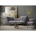 Ellwood Modern Sofa + Chair in Gray Velvet