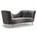 Ellwood Modern Gray Velvet Sofa