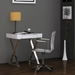 Elm Contemporary Small White Writing Desk w/ Drawer by Whiteline