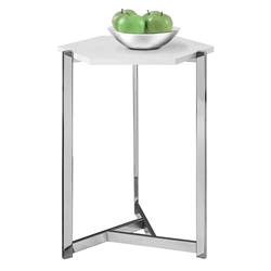 Elvas Modern White Hexagon Accent Table