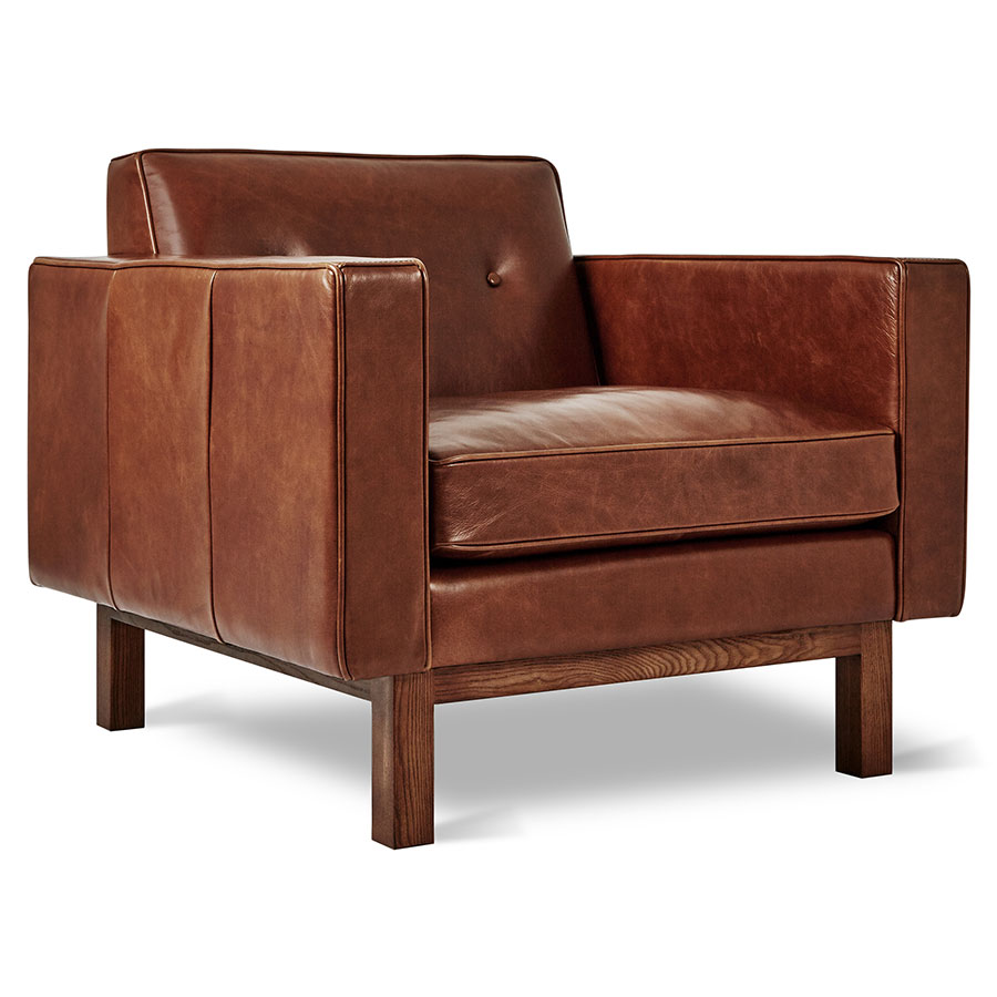 Gus Modern Embassy Saddle Brown Leather Chair Eurway