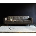 Embassy Gray Top Grain Leather + Solid Walnut Mid Century Modern Sofa by Gus* Modern