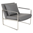 Edgar Gray Modern Lounge Chair