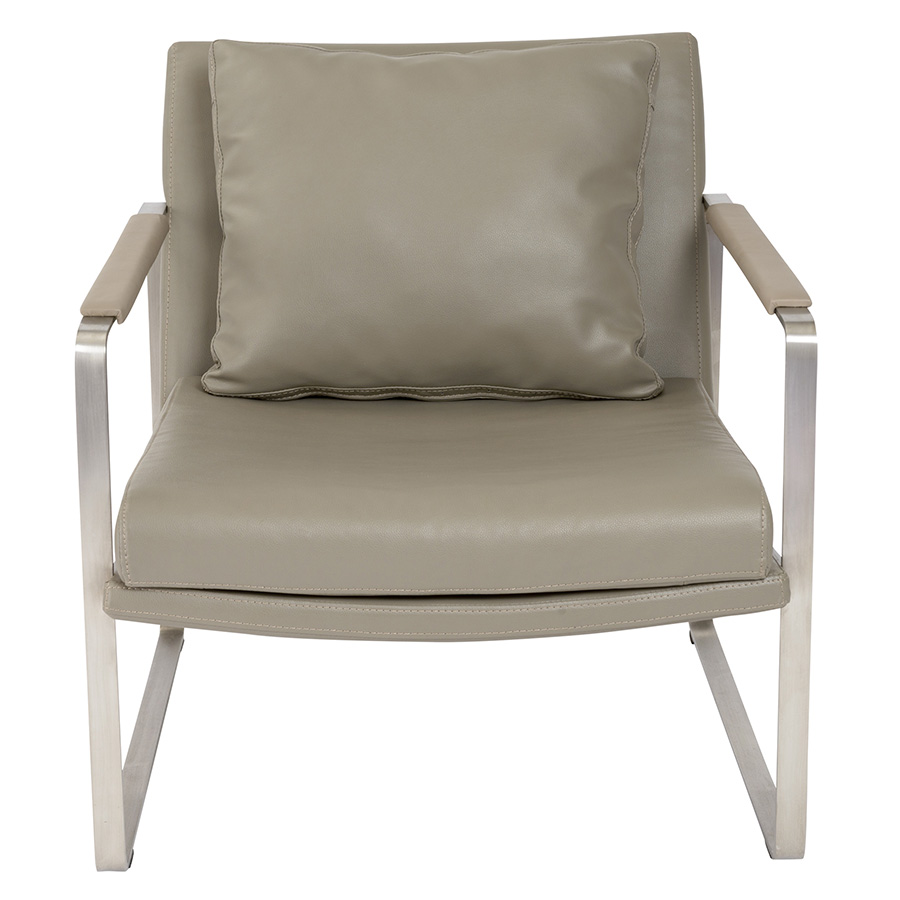 ... Edgar Taupe Contemporary Lounge Chair ...