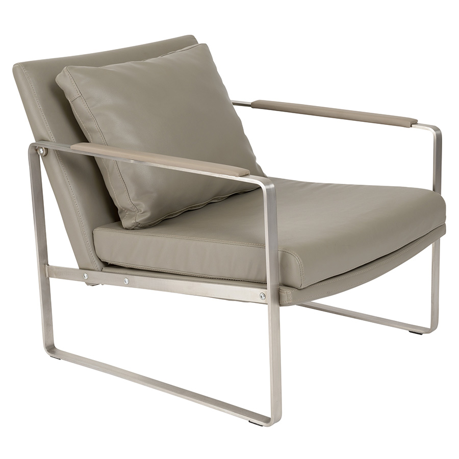 Emmett taupe modern lounge chair eurway furniture - Grijze lounge taupe ...