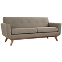 Empire Granite Fabric Modern Tufted Loveseat