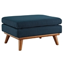 Empire Modern Azure Fabric Ottoman