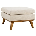 Empire Modern Beige Fabric Ottoman