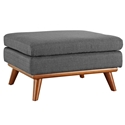 Empire Modern Dark Gray Fabric Ottoman