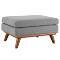 Empire Modern Medium Gray Fabric Ottoman