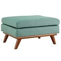 Empire Modern Light Blue Fabric Ottoman
