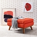 Empire Contemporary Red Fabric Ottoman