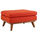 Empire Modern Red Fabric Ottoman