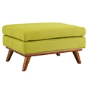 Empire Modern Wheatgrass Fabric Ottoman