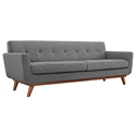 Empire Modern Medium Gray Fabric Tufted Sofa