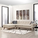 Empire Beige Contemporary Sofa with Left Facing Chaise
