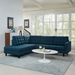 Enfield Contemporary Azure Blue 2 Pc Left Facing Sectional
