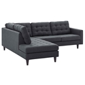 Enfield Modern Gray 2 Pc Left Facing Sectional