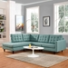 Enfield Contemporary Light Blue 2 Pc Left Facing Sectional