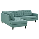 Enfield Modern Light Blue 2 Pc Left Facing Sectional