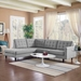Enfield Contemporary Light Gray 2 Pc Left Facing Sectional