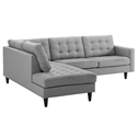 Enfield Modern Light Gray 2 Pc Left Facing Sectional