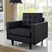Enfield Black Leather Contemporary Lounge Chair