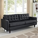 Enfield Contemporary Black Leather Sofa