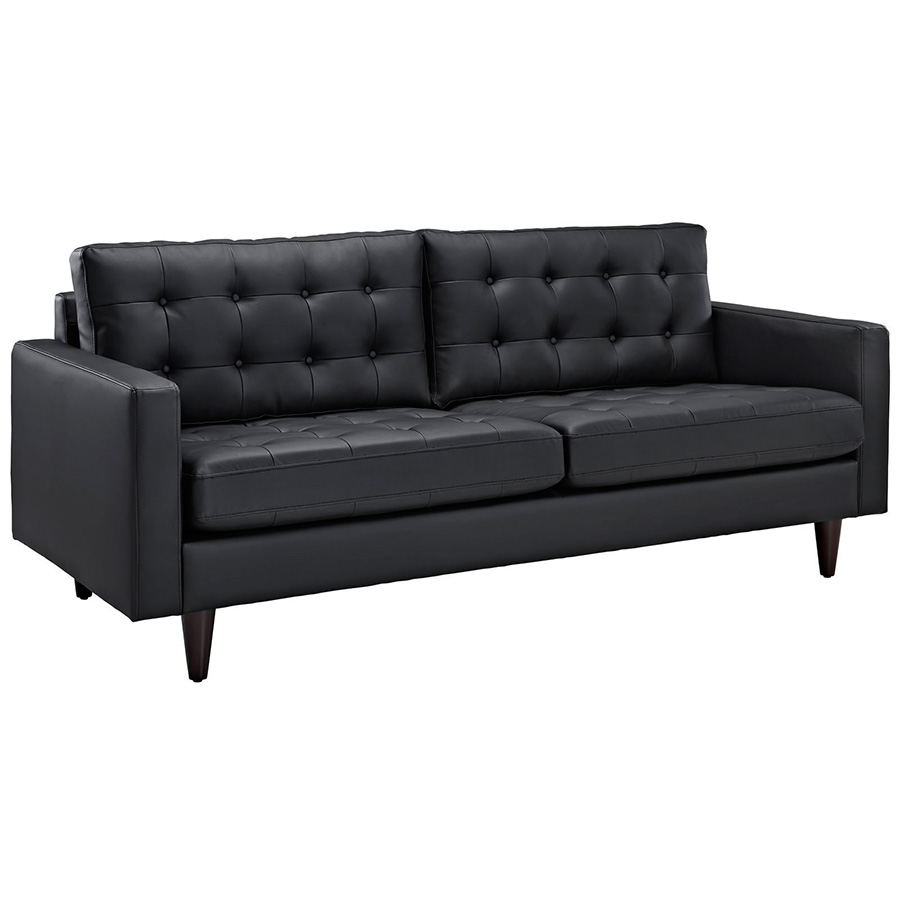 Call To Order · Enfield Modern Black Leather Sofa
