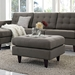 Enfield Granite Contemporary Ottoman