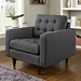 Enfield Gray Contemporary Lounge Chair
