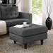 Enfield Gray Contemporary Ottoman