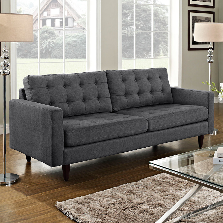 ... Enfield Contemporary Gray Sofa