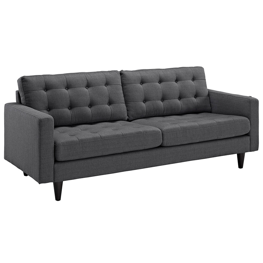 Grey contemporary sofa modern grey fabric sectional sofa for Modern love seats